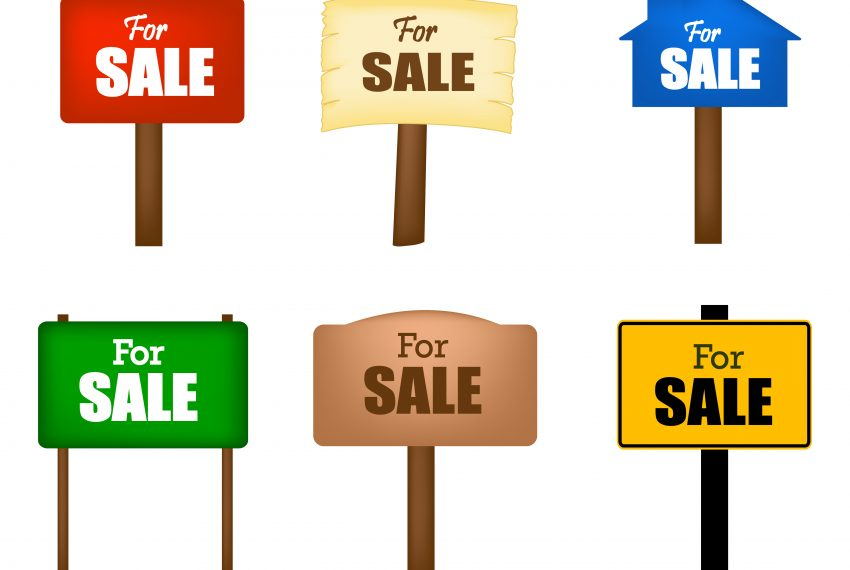 Lots of new 'For sale' boards when looking at property for sale UK